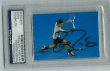 Roger Federer PHOTOGRAPH 2013 AUSSIE OPEN GOAT -PSA/DNA Certified Authentic AUTO