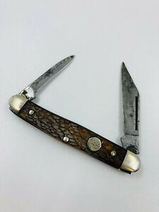 Vintage Boker USA 3588 2 Blade Folding Pocket Knife Tree Brand