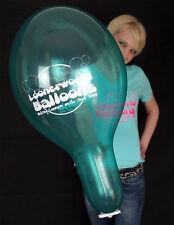 "100 x BELBAL 14"" Luftballons LOONERWORLD-LOGO - KRISTALLFARBEN * CRYSTAL-COLORS"