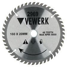160mm x 20/16mm 48T TCT Circular Saw Blade Tungsten Carbide Tipped Cutting