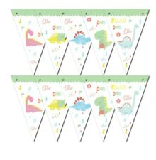 Dinosaurs Letter Bunting Banner 13 flags Party Decorations