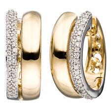 Reinheit SI Echter Diamanten-Ohrschmuck im Klapp-Creole-Stil mit Brilliantschliff