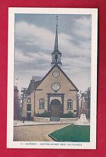 CANADA CHURCH NOTRE DAME DES VICTOIRES QUEBEC VINTAGE PC. 3910