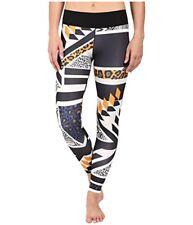 ADIDAS Womens Performance 3//4 Heathered Tights Yoga Pants Black AJ2062 MSRP $50
