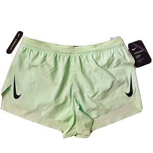 """Mens Nike Aeroswift 2"""" Inch Running Racing Shorts Vapor Green [MEDIUM NEW]"""