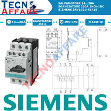 Salvamotore Range 14...20A 1NO+1NC S0 Protezione Motore Siemens 3RV1021-4BA15