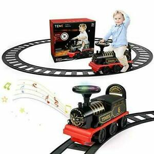 TEMI Ride On Train with Track Electric Ride On (Ride-on Train + Curved Tracks)