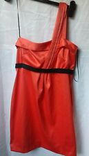 FABULOUS VIBRANT ORANGE OFF SHOULDER DRESS..FROM RIVER ISLAND..10