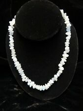 Gorgeous Natural Chalcedony Beaded Necklace With Sterling Silver Findings
