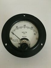 Vtg Weston Electrical Instrument Gauge Model 301 Volts Appears Un-Used Steampunk