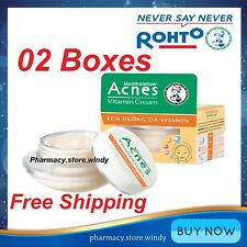 02 Boxes Mentholatum Acnes Vitamin Cream, Nourish Skin After Acne - Free Ship