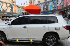 For Toyota Highlander 2008-2010  Stainless Steel Body door Side Molding trim 4Pc