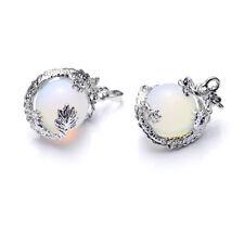 2pcs/lot round beads dragon pendant white opal glass lampwork charm pendant