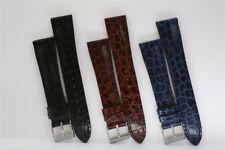 Cinturini Artigianali Stampa Coccodrillo 17 e 21mm Embossed Alligator Straps