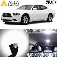 Alla Lighting Dome Map Interior Lights 578 White Led Bulbs Lamp for Dodge 211-2(Fits: Neon)