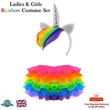 Ladies & Girls RAINBOW TUTU COSTUME Unicorn My Little Pony Dash Fancy Dress UK
