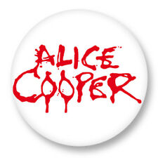 "Pin Button Badge Ø25mm 1"" Alice Cooper Rock Hard Heavy Metal"