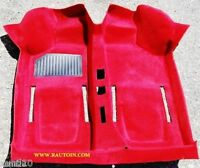 FIAT 500 D F L R MOQUETTE TAPPETO INTERNO ROSSA  INTERIOR MOULDED CARPET RED
