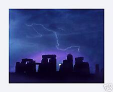 Photographic poster of Stonehenge at dawn + lightning
