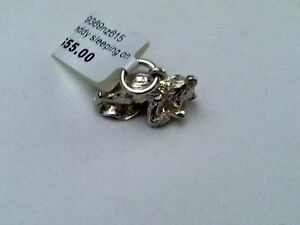 Sterling Silver Solid Bear Sleeping on a blanket charm/Pendant New RRP $55