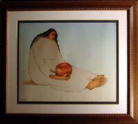 R C Gorman La Paloma '80 Rare Original Lithograph with Custom Frame Signed