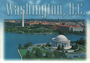 Aerial View of Washington DC, Thomas Jefferson Memorial Tidal Basin etc Postcard