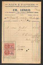 """BAGNOLET (93) SACS & PAPIERS D'EMBALLAGE """"Ch. LENUD"""" en 1950"""
