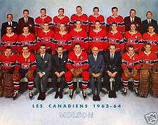 Montreal Canadiens 1963-64, 8x10 Colour Team Photo