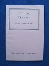 MAX BEERBOHM - LYTTON STRACHEY The Rede Lecture / The Bloomsbury Group