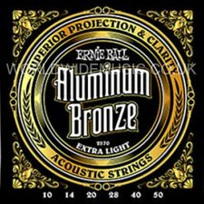 Ernie Ball 2570 Aluminum Bronze Extra Light Gauge Acoustic Guitar Strings 10 -50