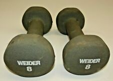 Lot 2 Weider Neoprene 8 lb Hand Weights Workout Exercise Toning Dumbell