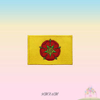 LANCASHIRE UK County Flag Embroidered Iron On Patch Sew On Badge