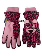 NICE CAPS Girls Kids Children Thinsulate Waterproof Tiger Ski Snow Winter Gloves