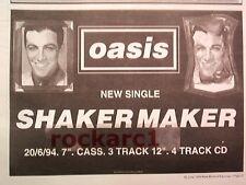 "OASIS Shakermaker 1994  UK Press ADVERT 12x8"""