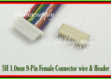 Micro JST-SH 1.0 Pitch 9-Pin Female Connector Housing wire 100mm,Male Header x 5