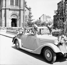 NEGATIV - 30iger Jahre Art Deco Oldtimer Cabrio Tatra ? Hochzeit