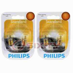 2 pc Philips Parking Light Bulbs for Jaguar XKE 1969-1974 Electrical it