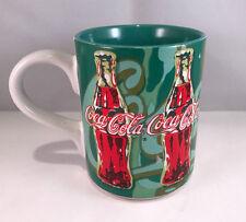 Coca-cola coke coffee tea cup mug 14 oz. retro green 1998