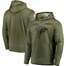 Falcons Hoodie Coat Men's  Sweatshirt Olive Salute to Service Sideline Therma
