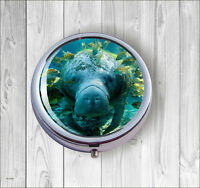 MANATEE CLEANING STATION PILL BOX ROUND METAL - hfg5Z