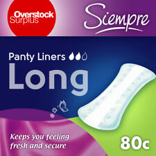 Panty Liners Pantiliners - SIEMPRE Long - 2 PACK of 40 count, 80 count total