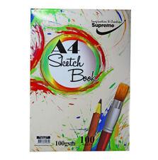 Bloque de A4 Supremo Sketch Pad 100 Hojas (200 lados) 100 Gr Cojín de papel