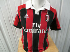 VINTAGE adidas AC MILAN SEWN SMALL JERSEY 2012/13 KIT PREOWNED ITALIAN LEAGUE