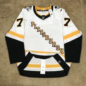 Adidas Jeff Carter Pittsburgh Penguins Reverse Retro NHL Hockey Jersey White 54