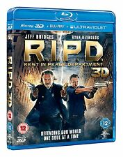 R.I.P.D. Rest in Peace Department 3D (Blu Ray 3D + Blu-ray) Region B NEW