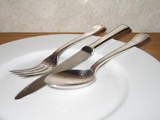 WISKEMANN *NEW* HELLADE Set 3 couverts Cutlery Métal argenté 100g