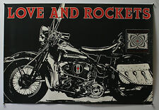 LOVE & ROCKETS - 1989 UK MUSIC POSTER 20X30 - HARLEY DAVIDSON MOTORCYCLE -V