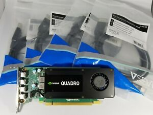 Nvidia Quadro K1200 4GB GDDR5 Slim mDp DisplayPort Cables Windows 10 Video Card