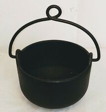 Vintage Cast Iron Bell System Smelting Pot Lead Melting Telephone Collectible