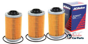 Oil Filter Pack of 3 ACDelco suitable for VZ VE VF V6 HOLDEN Commodore 3.6 3.0 A